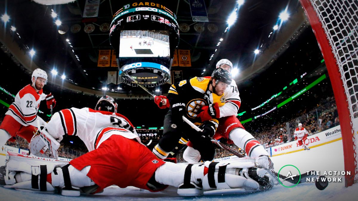 Sharp Bettors Hitting Bruins vs. Hurricanes Game 3 article feature image