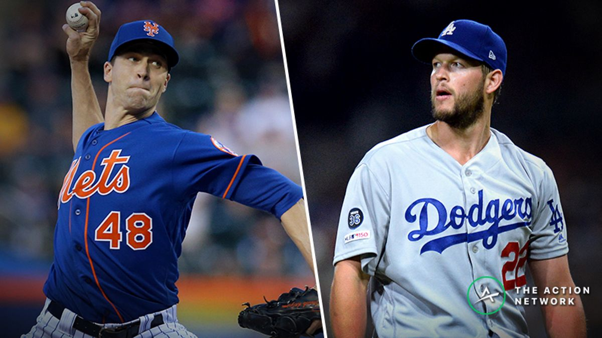 MLB Daily Betting Model, 5/27: Bet deGrom As an Underdog vs. Kershaw, Dodgers? article feature image