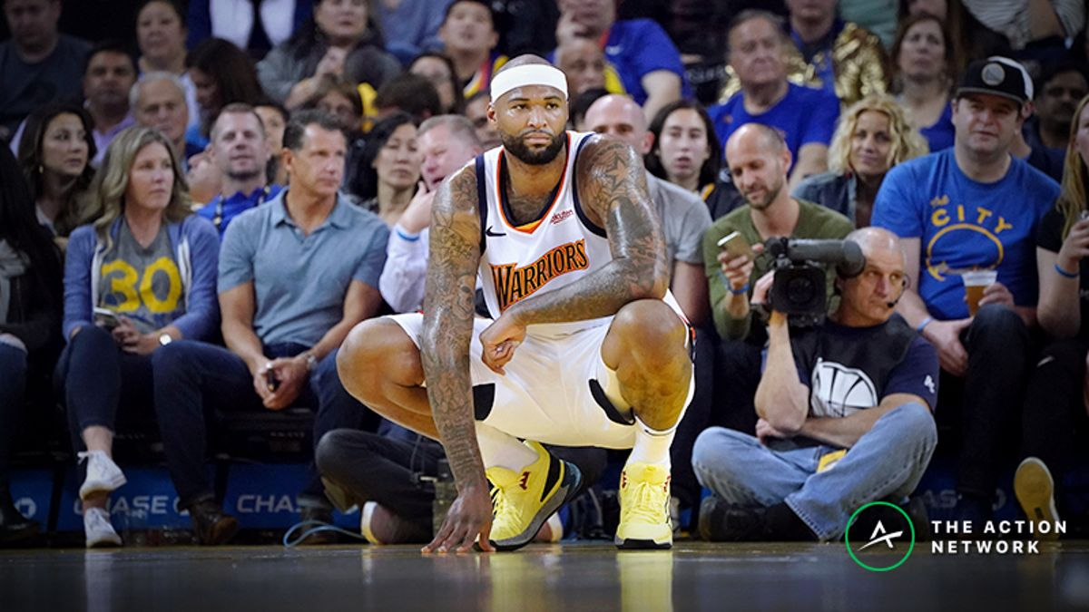DeMarcus Cousins Injury Impact on Betting Odds for Warriors-Raptors Game 1 article feature image