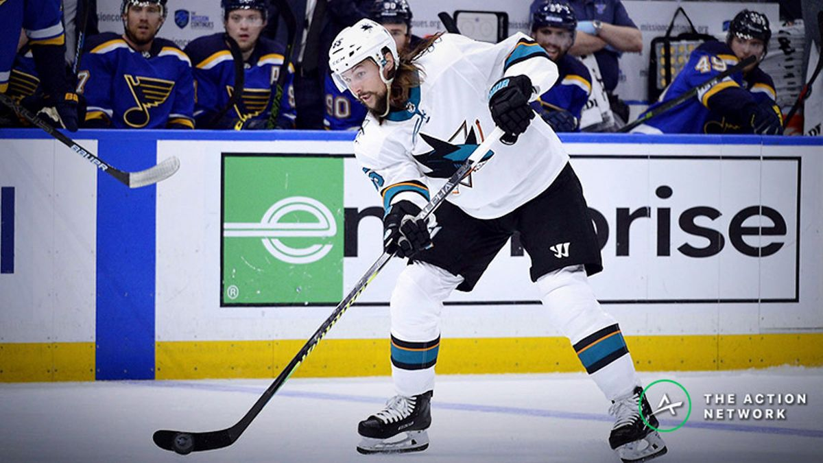 Blues vs. Sharks Game 5 Betting Odds, Preview: Karlsson's Injury Looms Large article feature image