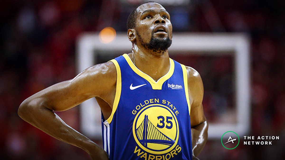 How Kevin Durant's Injury Timetable Impacts Warriors-Raptors Title Odds article feature image