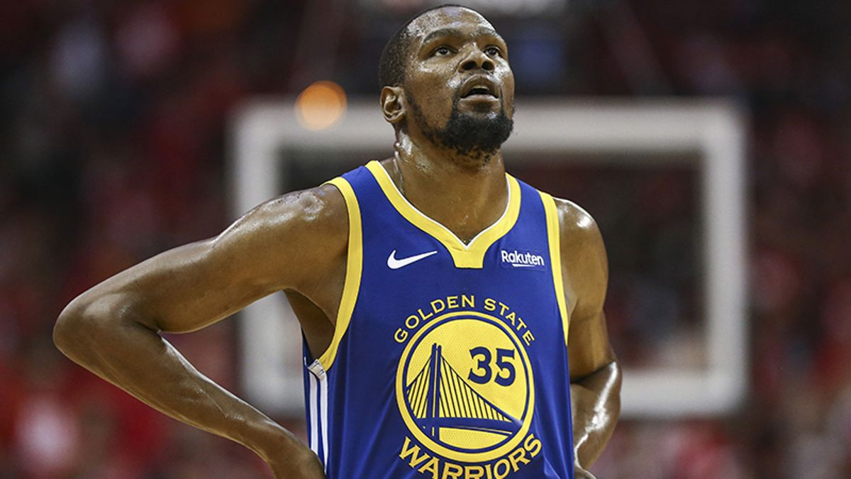 Kevin Durant's Injury, Absence Moving Odds for Raptors-Warriors Game 4 article feature image