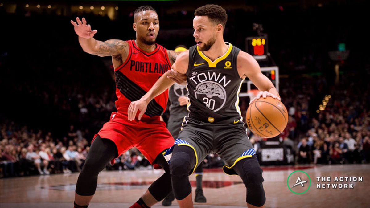 Updated Western Conference Finals Series Odds, Schedule: Warriors vs. Blazers article feature image