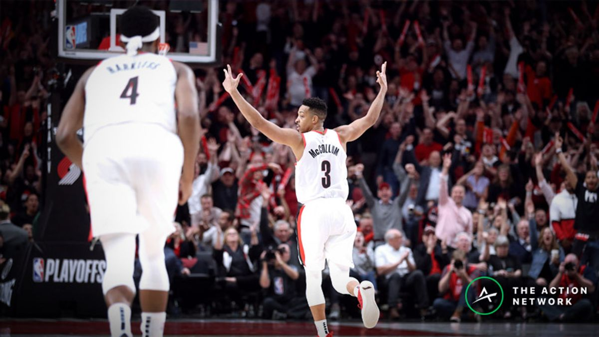 Nuggets vs. Blazers Game 4 Betting Preview: Under in Play After 4 OT Thriller? article feature image