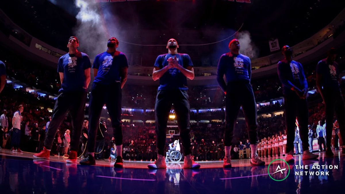 NBA Playoffs Game 7 Betting Cheat Sheet: Odds, Trends, Analysis for Nuggets-Trail Blazers, 76ers-Raptors article feature image