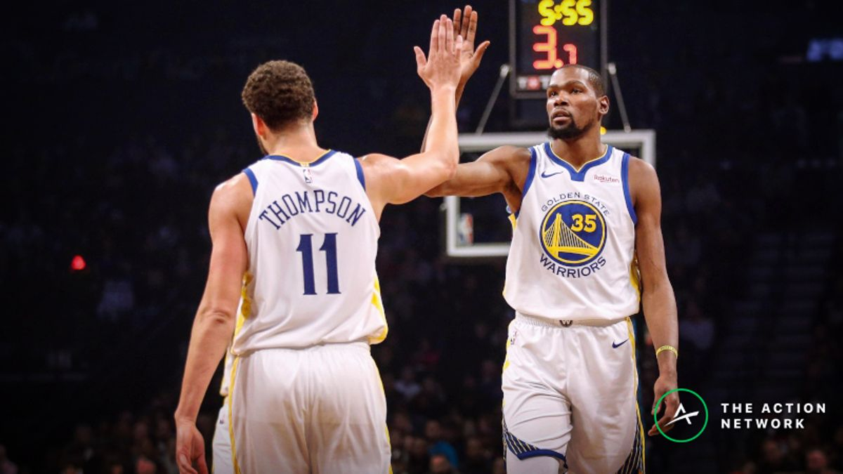 What Game 3 Odds Would Be If Kevin Durant, Klay Thompson Both Play article feature image