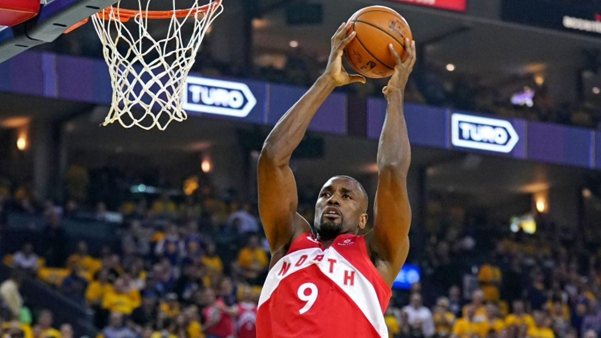 Raybon's Warriors-Raptors Game 5 Prop: Will Serge Ibaka Grab 6 Rebounds? article feature image
