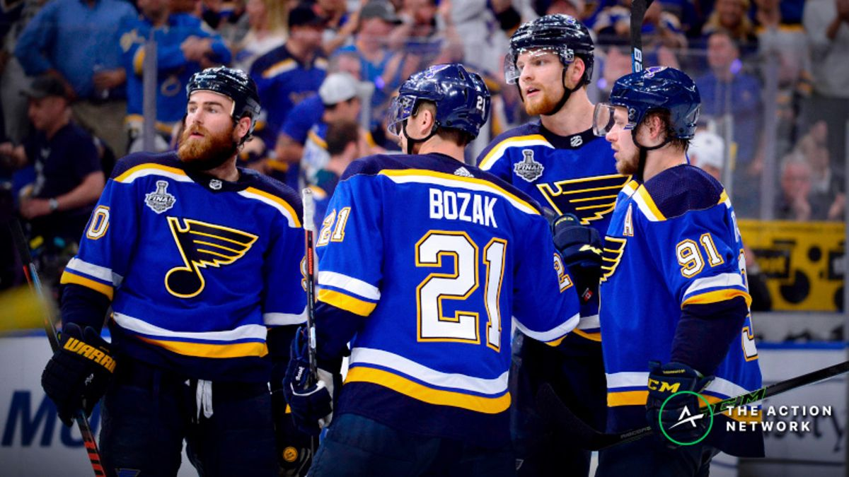 Stanley Cup Game 4 Sharp Report: How Pros Are Betting Bruins vs. Blues article feature image