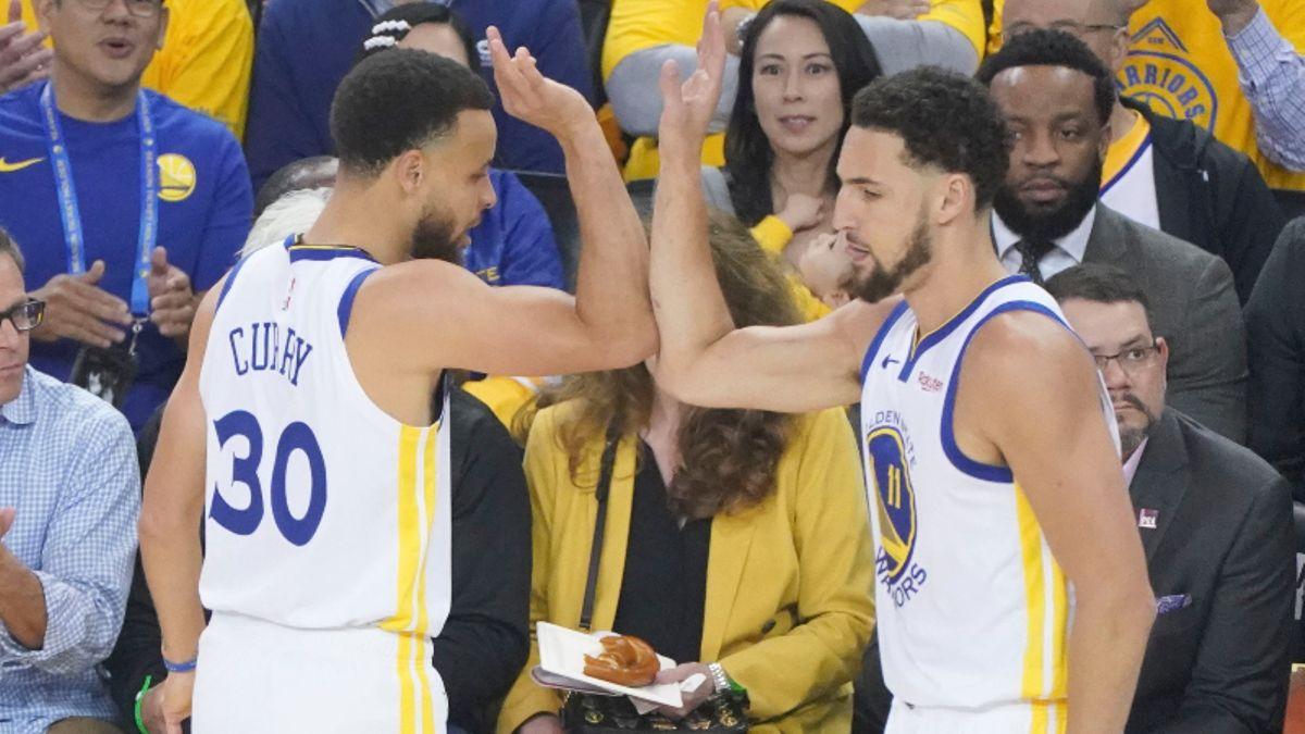 Raptors vs. Warriors NBA Finals Odds, Picks, Cheat Sheet: How to Bet Klay's Return in Game 4 article feature image