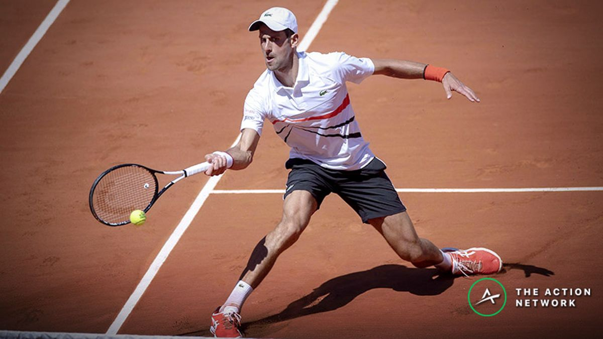 French Open Round 4 Betting Preview: Djokovic, Fognini vs. Zverev Headline Monday's Card article feature image