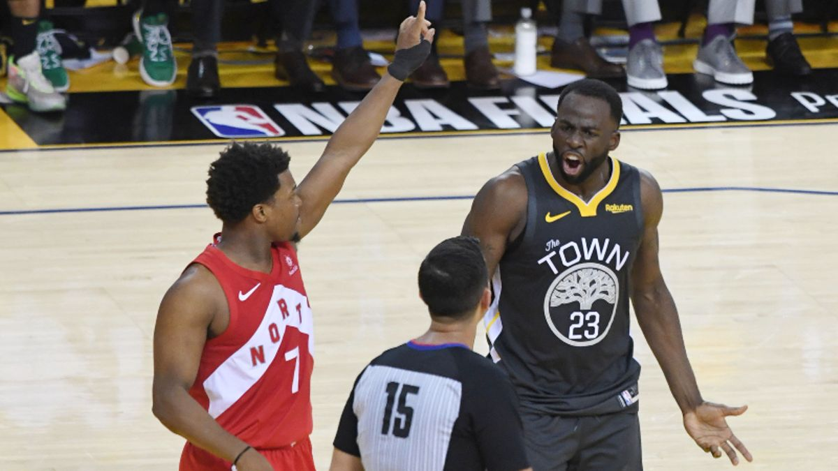 Raptors-Warriors Game 6 Referee Controversy: Was Draymond Green Behind the Line? article feature image