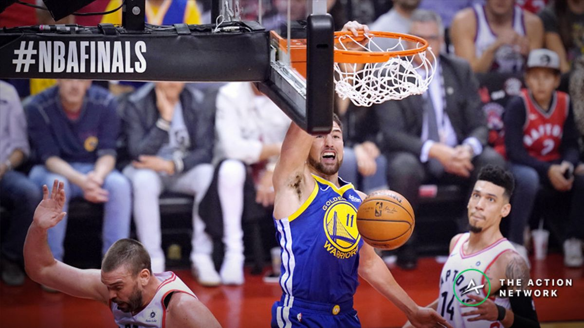 2019 NBA Finals Cheat Sheet: Warriors-Raptors Game 2 Odds, Analysis, Trends, Picks, More article feature image