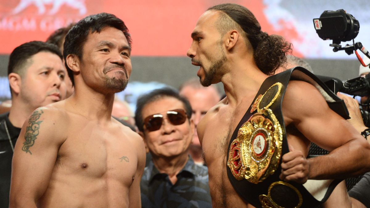 Manny Pacquiao vs. Keith Thurman Fight Odds, Preview: Should Pac Man Be the Favorite? article feature image