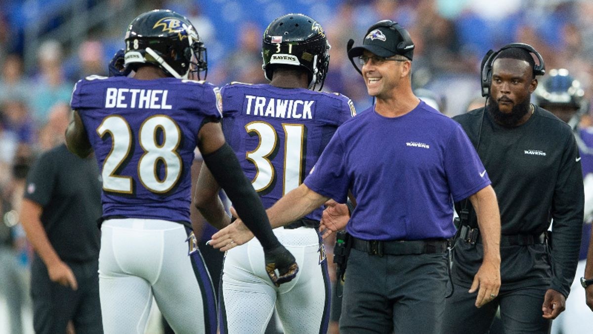 Packers vs. Ravens Betting Guide: Ride John Harbaugh's Preseason-Best ATS Record? article feature image