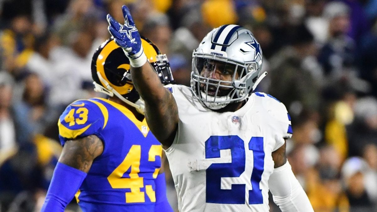 How Ezekiel Elliott's Holdout, Melvin Gordon's Trade Request Impact Their Fantasy Football Projections article feature image