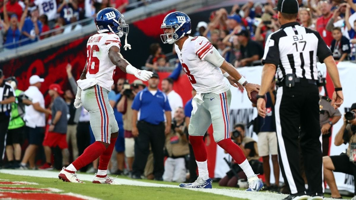 Early Line Movement Reveals How Pros Are Betting Daniel Jones, Giants vs. Redskins article feature image