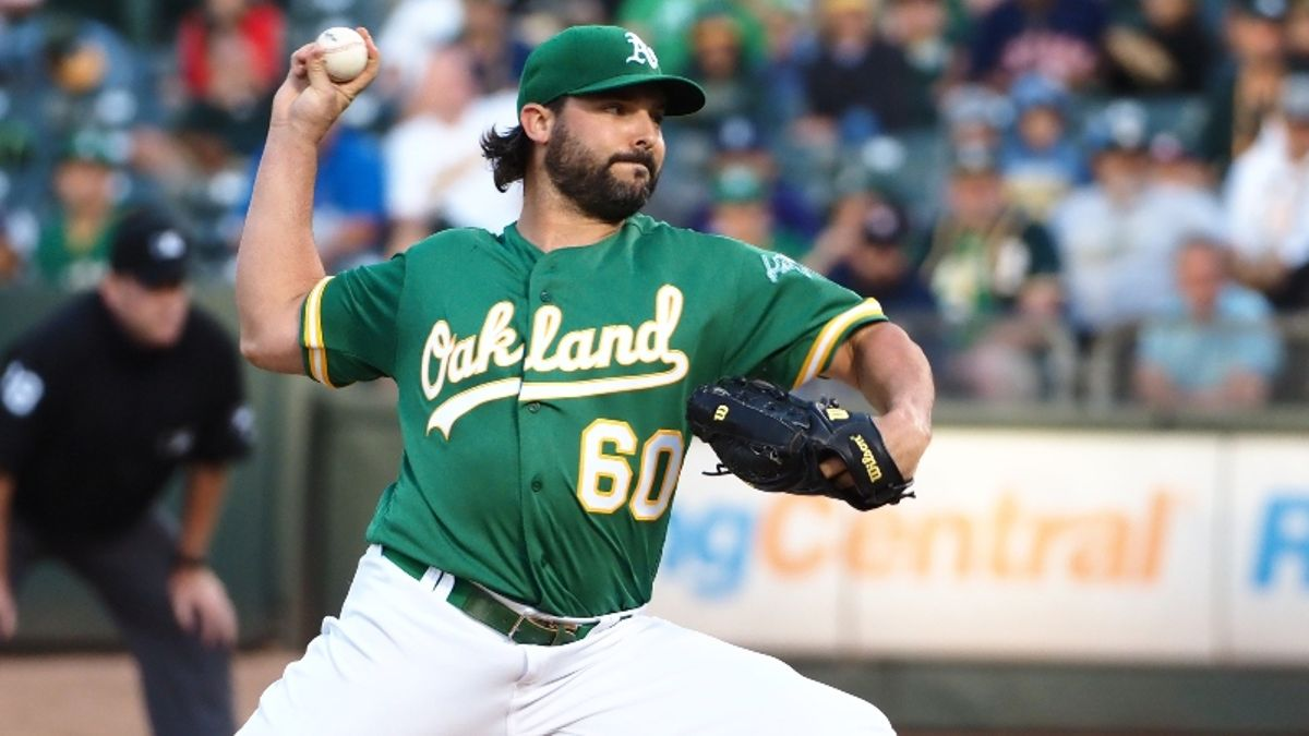 MLB Expert Picks for Tuesday: Can Tanner Roark Pitch the A's Over the Astros? article feature image