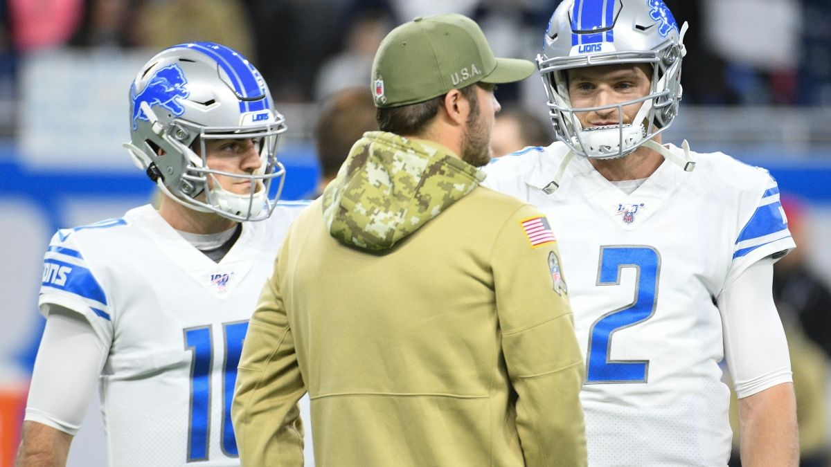 Updated NFL Thanksgiving Betting Odds: David Blough Moving Lions vs. Bears Spread, Over/Under article feature image
