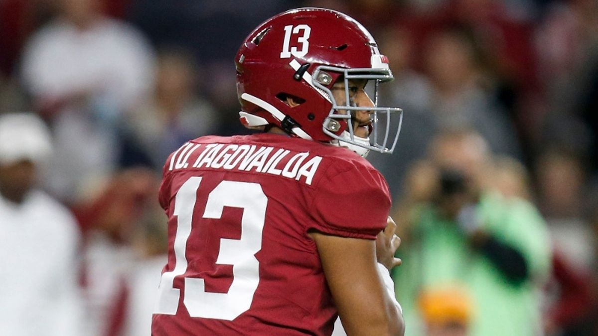 LSU vs. Alabama Line Movement Suggests Betting Market Is Preparing for Tua article feature image