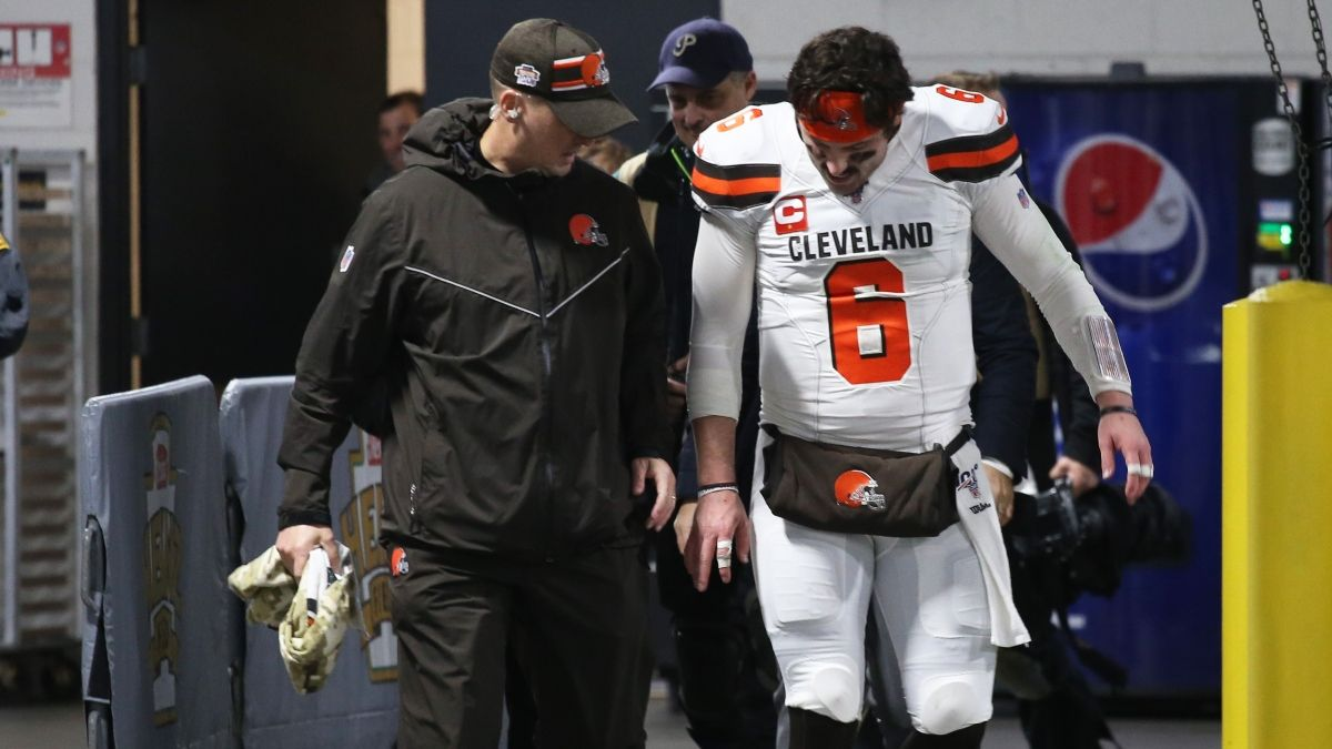 Baker Mayfield Injury Moving Bengals vs. Browns Betting Odds for Week 14 NFL article feature image