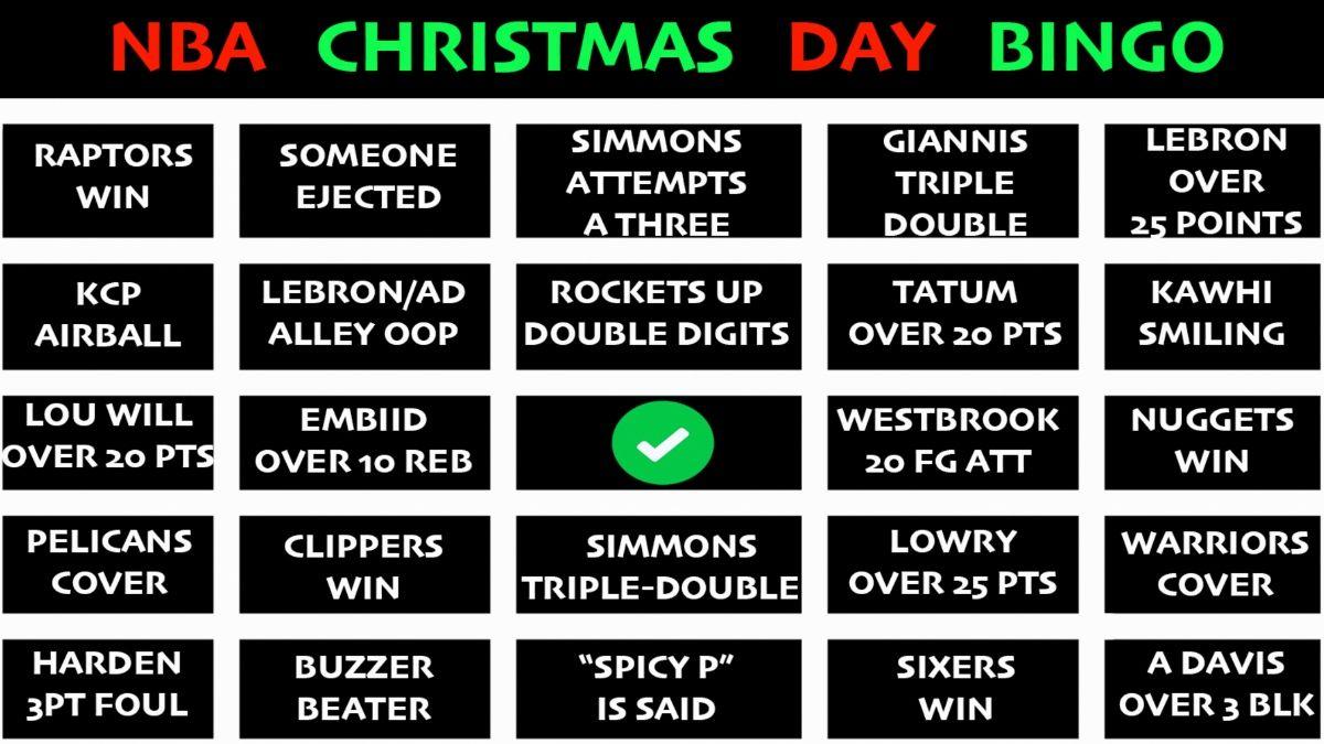 NBA Christmas Day Bingo article feature image
