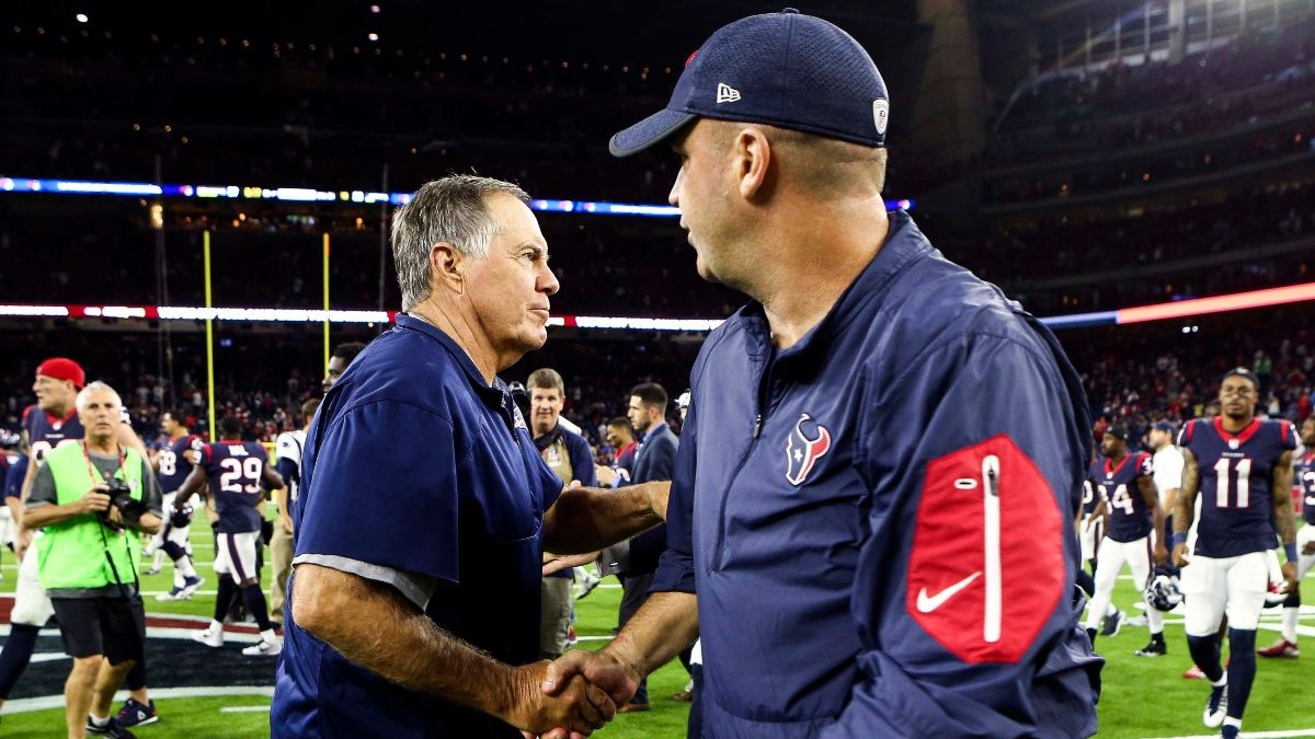 Sunday Night Football Betting Cheat Sheet: Odds & Picks for New England Patriots vs. Houston Texans article feature image