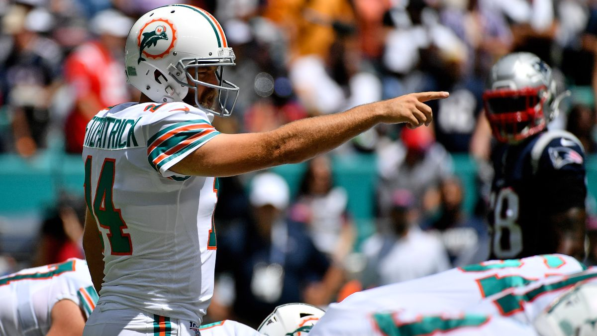 Dolphins vs. Patriots Betting Odds & Pick: Can Ryan Fitzpatrick Solve New England's Defense? article feature image