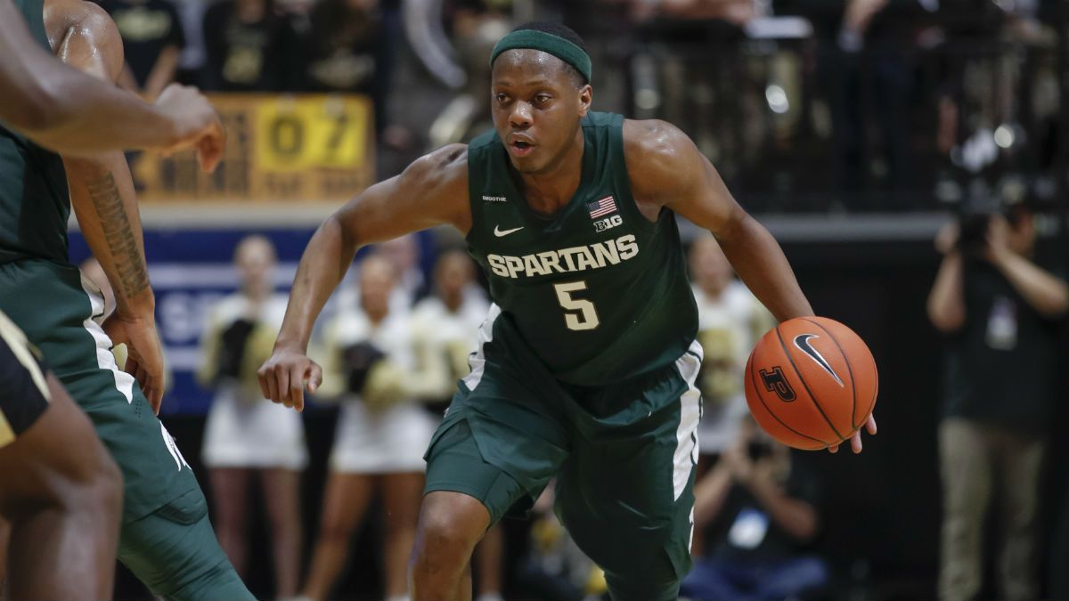 Friday College Basketball Odds & Picks: Michigan State vs. Wisconsin, Dayton vs. Saint Louis article feature image