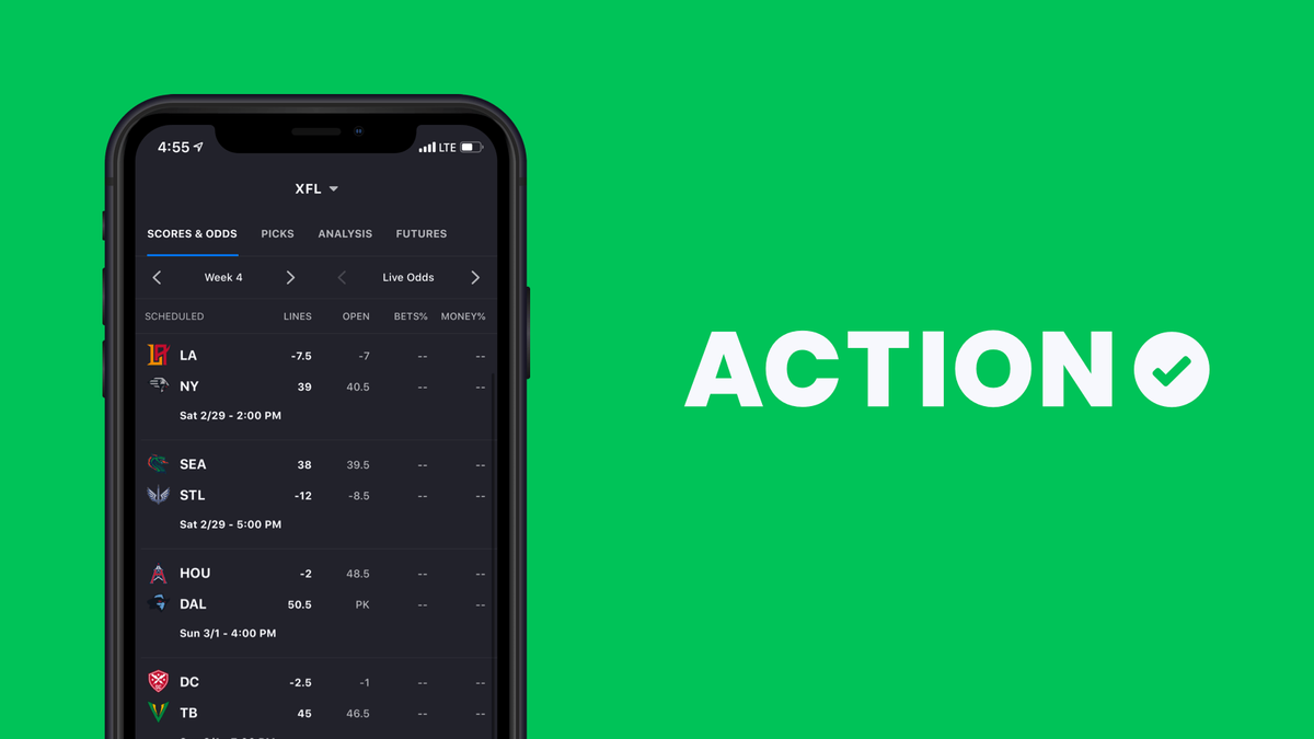 Update Your Action App: XFL Bet Tracking Is Here! article feature image