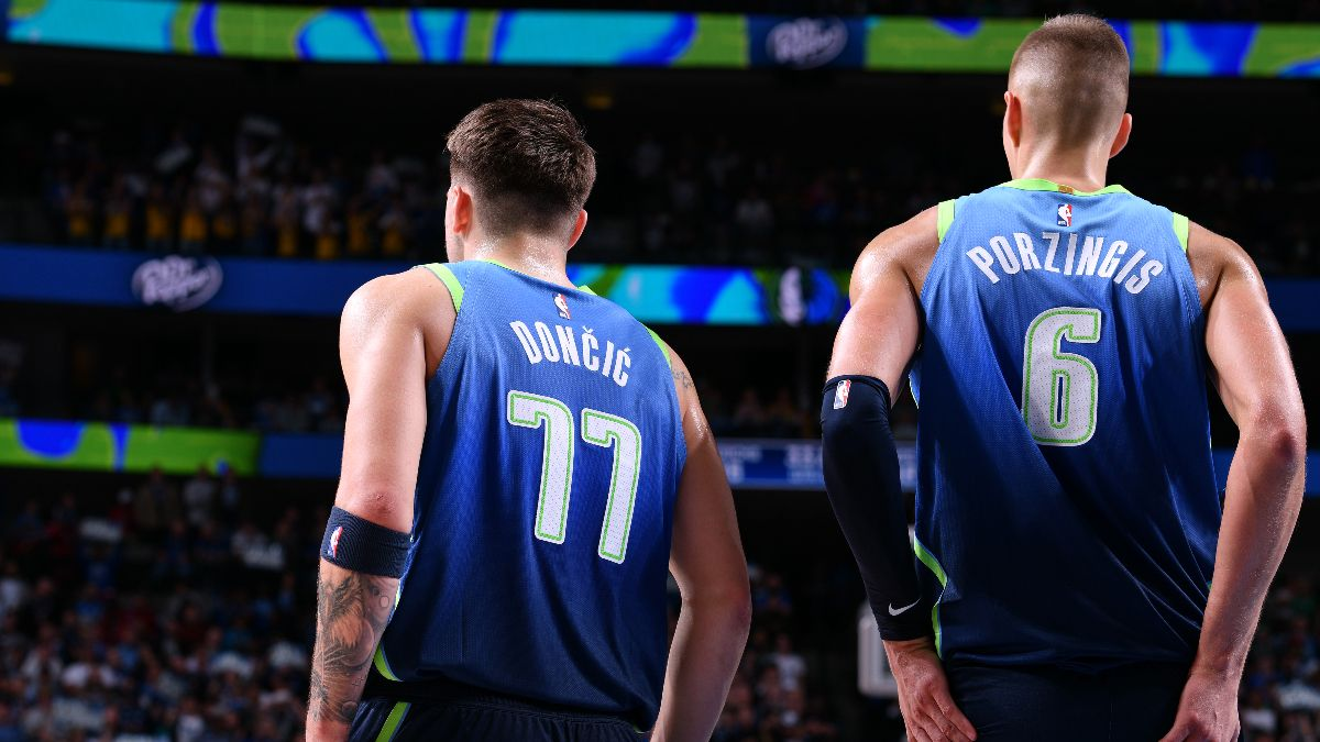 Moore's Saturday NBA Betting Picks & Angles: Should the Mavericks Be Favored Without Doncic and Porzingis? article feature image
