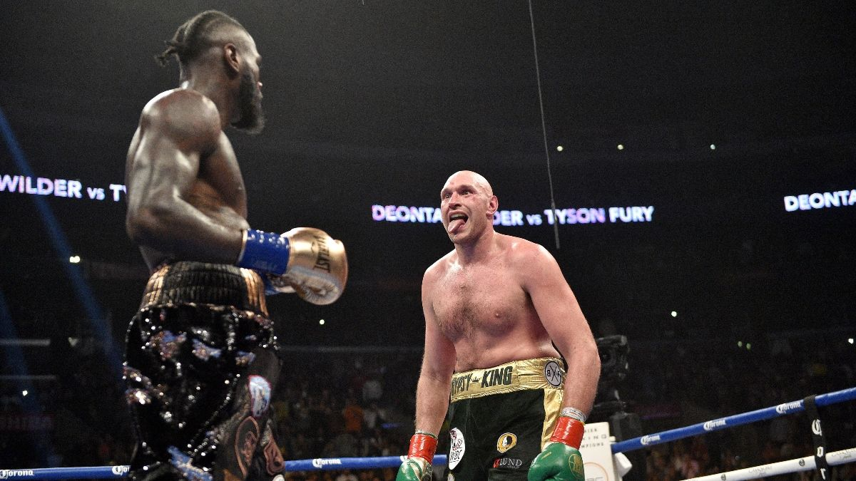 The Latest Wilder vs. Fury Odds: Moneyline Moving In Deontay Wilder's Favor article feature image