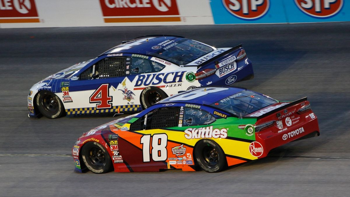NASCAR at Darlington Odds: Kevin Harvick & Kyle Busch Co-Favorites for NASCAR's May 17 Return article feature image