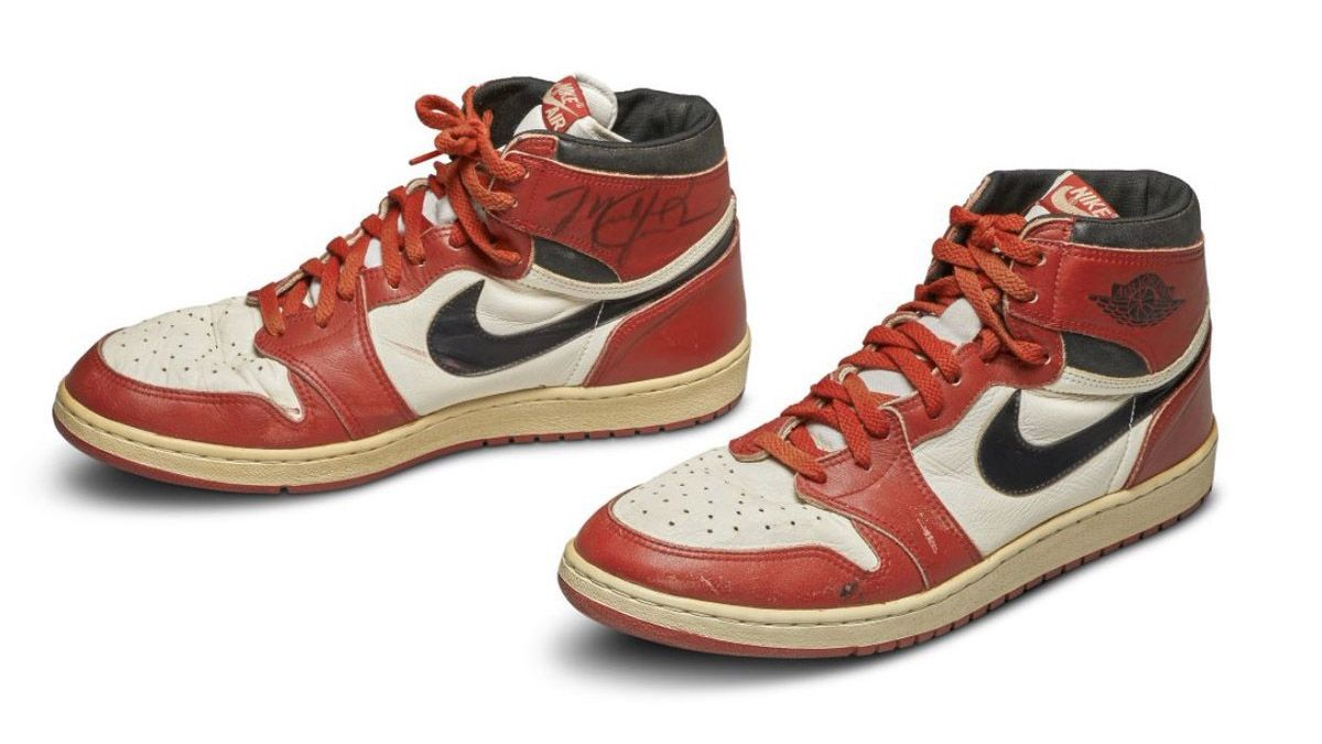 $560,000 Sale: Signed Game-Worn Air Jordan I's Break Record for Most Expensive Sneaker Ever article feature image