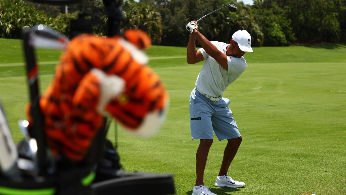 Updated Odds for Tiger vs. Phil II: Woods/Manning Favored Over Mickelson/Brady article feature image