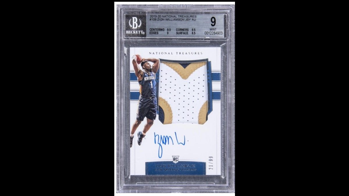 Six Figures or Bust: One Man's Big Gamble Lands Him Most Valuable Zion Williamson Card on the Market article feature image
