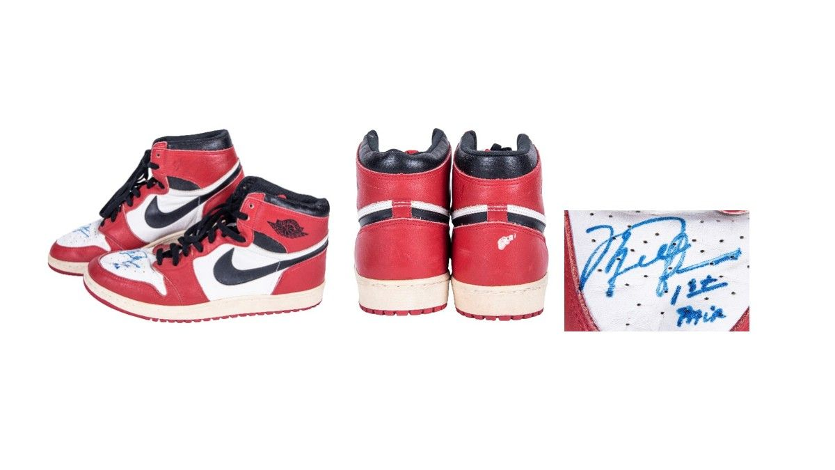Game-Used, Signed Air Jordan I's Could Shatter Sneaker Auction Record Again article feature image