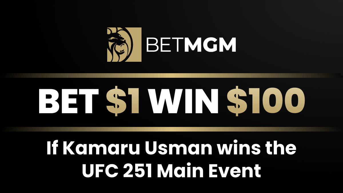 UFC 251 Betting Offers: Get 100-1 Odds on Kamaru Usman to Win the Main Event! article feature image