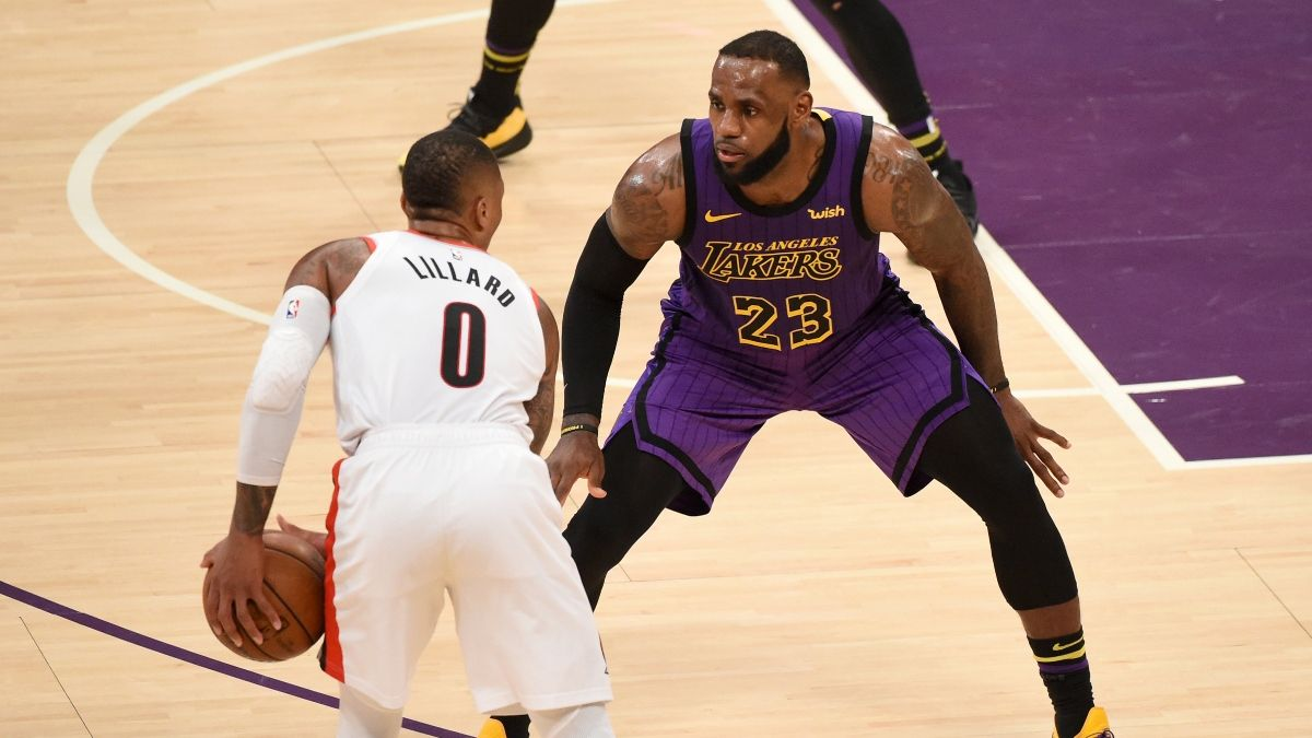 Tuesday NBA Sharp Betting Pick & Odds Movement: Blazers vs. Lakers Game 1 (August 18) article feature image
