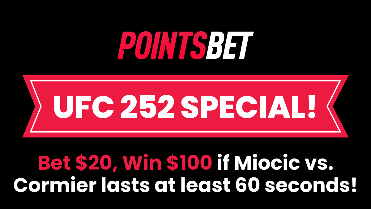 Bet $20, Win $100 if the UFC 252 Main Event Lasts at Least 60 Seconds! article feature image