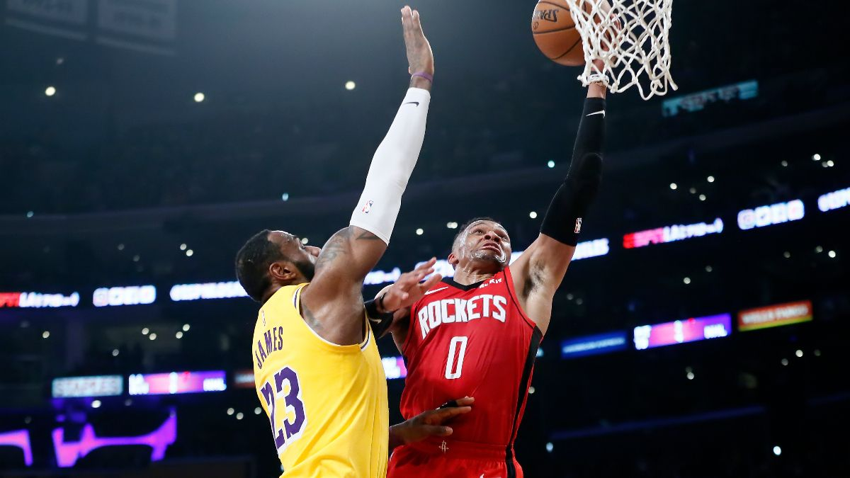 NBA Playoffs Series Odds & Round 2 Schedule: Los Angles Lakers vs. Houston Rockets article feature image