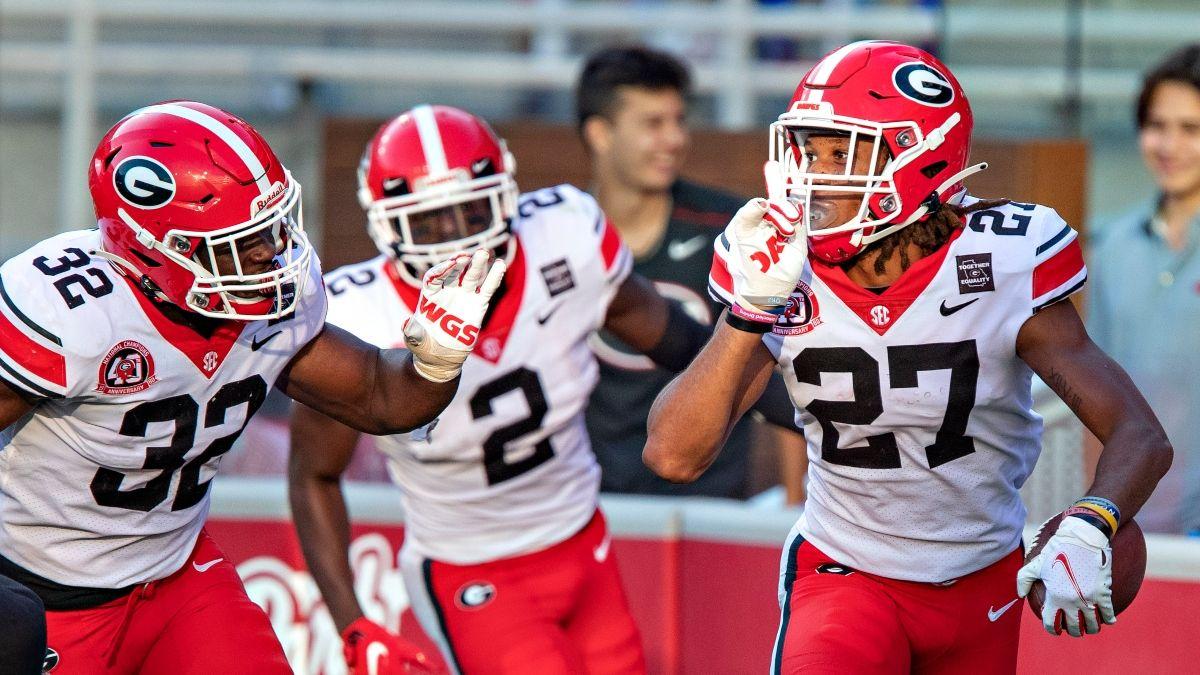 Georgia vs. Auburn CFB Promo: Bet $20, Win $125 if Georgia Scores a Point! article feature image
