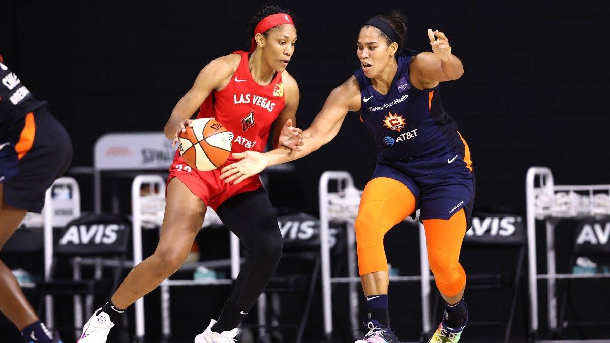 Sunday WNBA Odds & Picks: Connecticut Sun vs. Las Vegas Aces (Sept. 20) article feature image