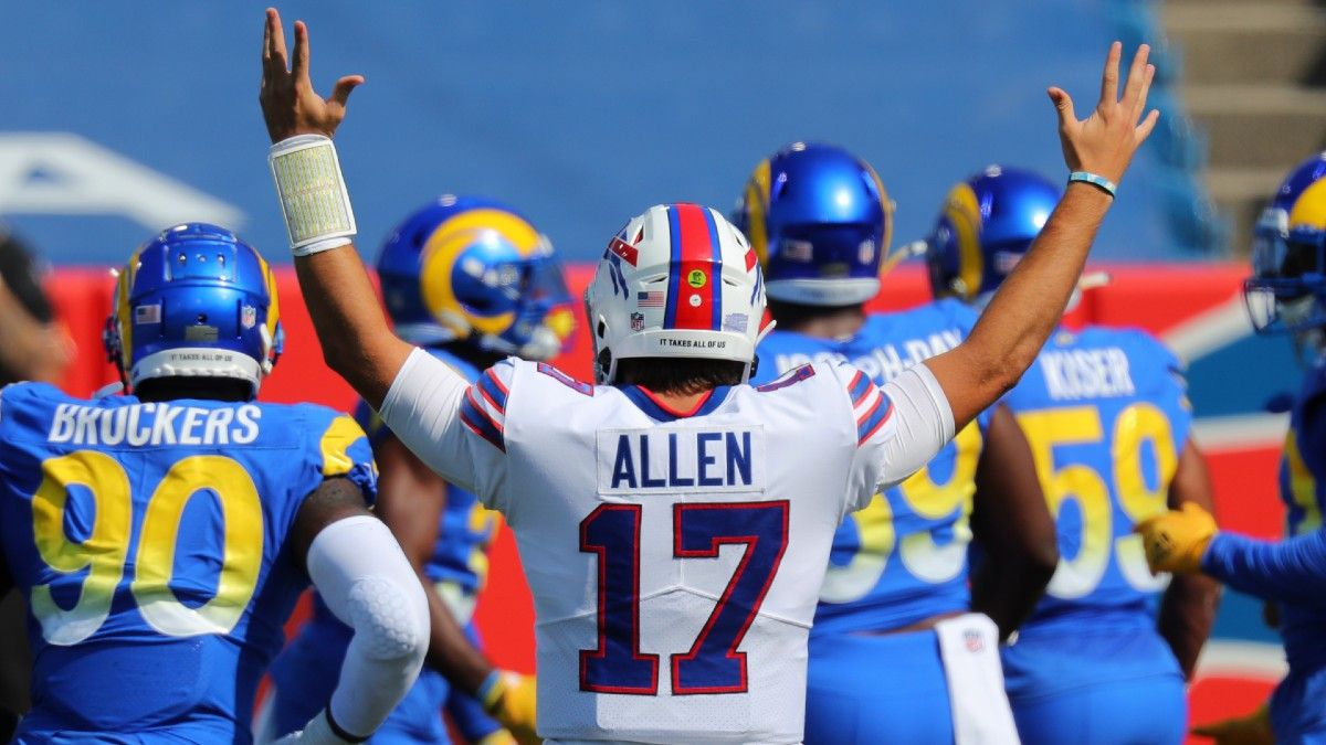 Tuesday Night Football Promo: Bet $20, Win $88 if Josh Allen Throws for at Least 8 Yards article feature image