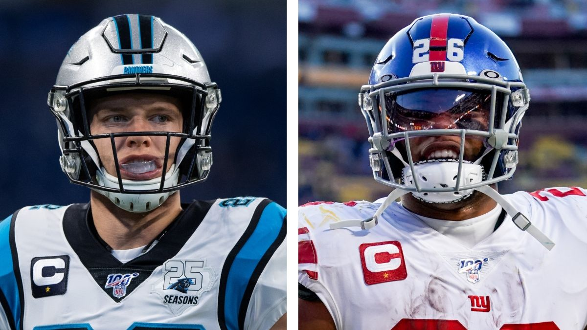 How Christian McCaffrey & Saquon Barkley Injures Impact Fantasy Outlooks For Mike Davis & Giants RBs article feature image