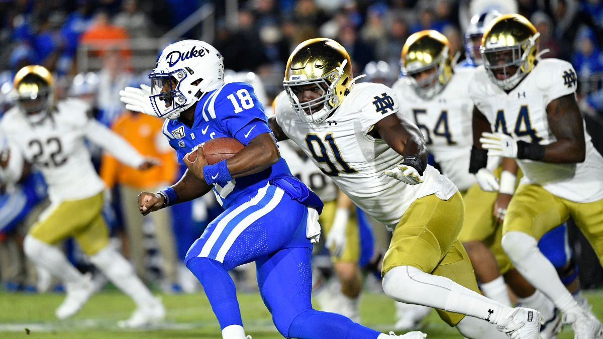 Notre Dame vs. Duke Odds, Betting Pick & Preview (Saturday, Sept. 12) article feature image