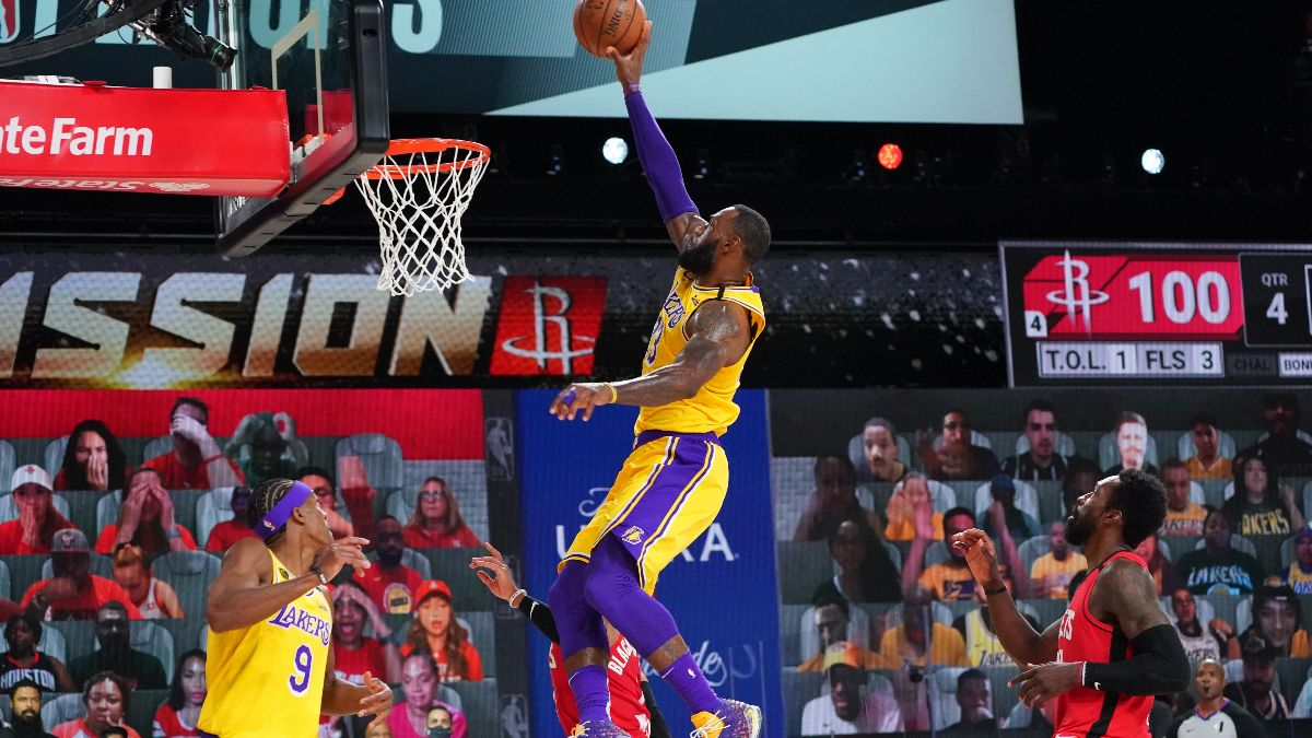 NBA Betting Picks: Our Staff's Favorite Playoff Bets for Lakers vs. Rockets (Saturday, Sept. 12) article feature image