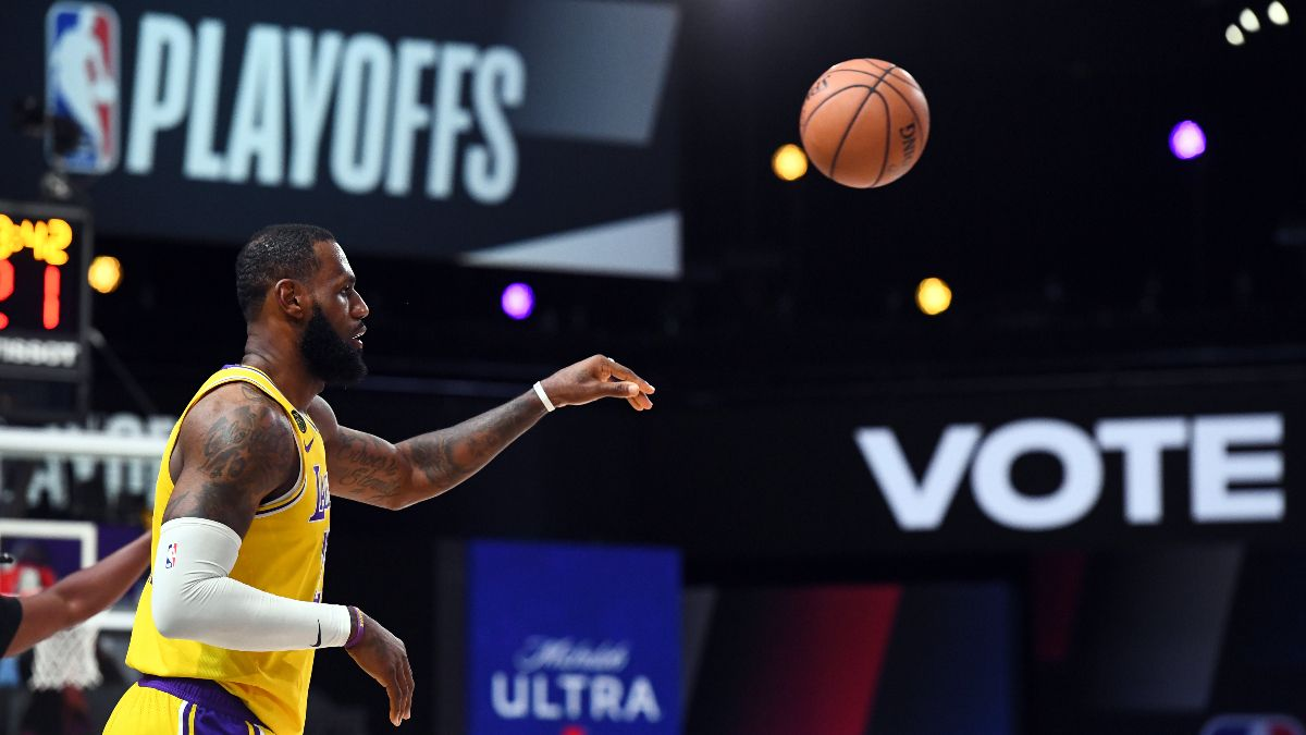 NBA Playoffs Picks & Predictions: Our Favorite Betting Angles for Lakers vs. Nuggets Game 3 (Tuesday, Sept. 22) article feature image