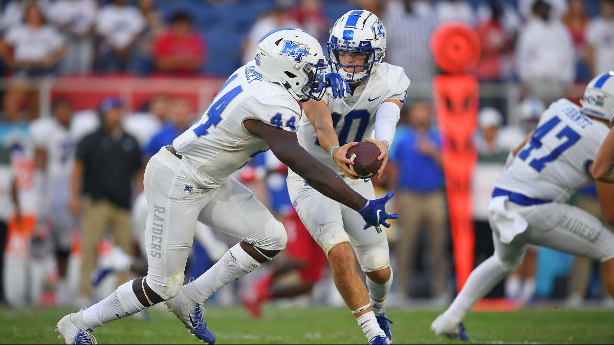 Middle Tennessee vs. Army Betting Odds, Picks & Predictions (Saturday, Sept. 5) article feature image