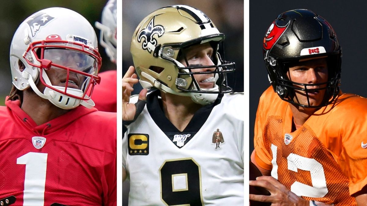 The NFL QB Cliff: Rating the Risk of Cam Newton, Drew Brees, Tom Brady & Others Falling Off in 2020 article feature image