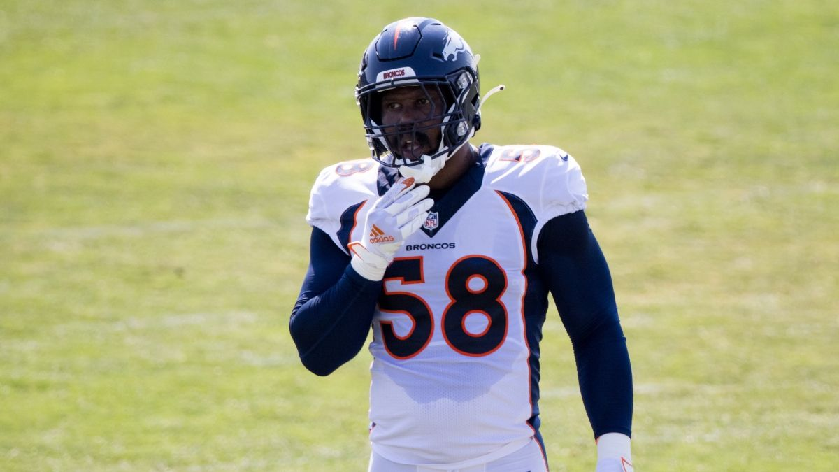 Von Miller Injury Hurts Broncos Week 1 Odds vs. Titans & Playoff Chances article feature image